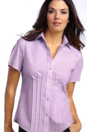 Unique Design Short Sleeves Silk Shirt