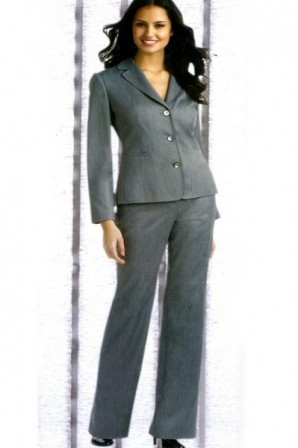 Magnificent Notch Lapel 3 Buttons Suit with Straight Hems in 50% Wool Made in China